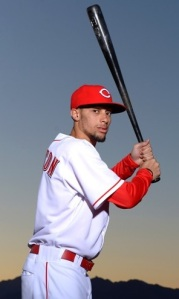 Feb 16, 2013; Goodyear, AZ, USA; Cincinnati Reds outfielder Billy Hamilton poses for a photo during photo day at the Reds Spring Training Facility. Mandatory Credit: Jake Roth-USA TODAY Sports